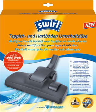 Swirl® Εναλλάξιμο ακροφύσιο για τάπητες και σκληρά δάπεδα